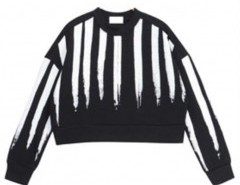 Cropped Sweatshirt with Stripes Chicnova bester Fashion-Online-Shop aus China