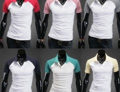 Men Short Sleeve Stylish Candy Color Polo Shirts 8 Colors Cndirect bester Fashion-Online-Shop aus China
