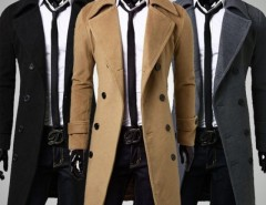 2016 Trends Men's Trench Coat Winter Long Jacket Double Breasted Overcoat Cndirect bester Fashion-Online-Shop aus China