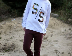 White Sweatshirts With Letter and Number Print Choies.com bester Fashion-Online-Shop aus China