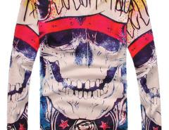 MultiColor Skeleton V Neck Long Sleeve Sweatshirt Choies.com bester Fashion-Online-Shop aus China