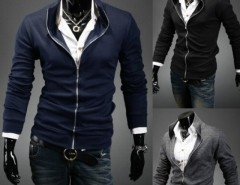 2016 Trends Men Stand Collar Casual Coats Jackets Tops Cndirect bester Fashion-Online-Shop aus China