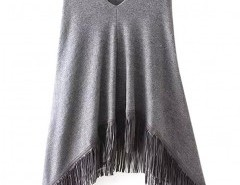 V-neck Fringed Cape Chicnova bester Fashion-Online-Shop aus China