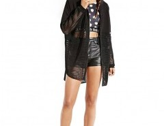 Sheer Graffiti Coat with Hood Chicnova bester Fashion-Online-Shop aus China