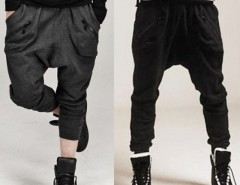 Men's Zipper Design Casual Sports Dance Trousers Baggy Jogging Harem Pants New Cndirect bester Fashion-Online-Shop aus China