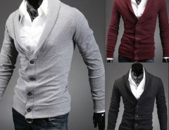 Men Stylish Turndown Collar V-Neck Cardigan Sweater Cndirect bester Fashion-Online-Shop aus China
