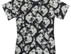 Unisex 3D T-shirt With Funny Huskie Print Choies.com bester Fashion-Online-Shop aus China
