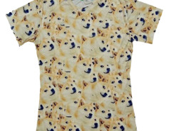 Unisex 3D T-shirt With Funny Akita Print Choies.com bester Fashion-Online-Shop aus China