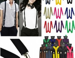 Men Women Clip-on Suspenders Elastic Y-Shape Adjustable Braces Solids Cndirect bester Fashion-Online-Shop aus China