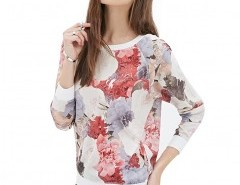 Crew Neck Floral Print Sweatshirt Chicnova bester Fashion-Online-Shop aus China