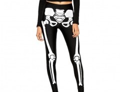 High Shine Leggings in Skeleton Print Chicnova bester Fashion-Online-Shop aus China