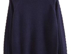 Men's Navy Blue Textured Knit Sweater Choies.com bester Fashion-Online-Shop aus China