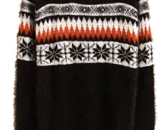 Men's Black Snowflake Pattern Fluffy Sweater Choies.com bester Fashion-Online-Shop aus China