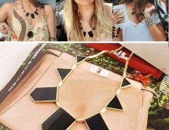 1PCS Stylish Elegant Gorgeous Fashion Black irregular Geometric Shape Necklace Cndirect bester Fashion-Online-Shop China