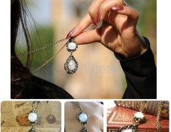 1pcs Korea Stylish and Elegant Women's Long Pendant Retro Necklace Fashion Cndirect bester Fashion-Online-Shop China