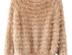 Round Neck Mohair Sweater Chicnova bester Fashion-Online-Shop aus China