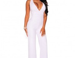 V-neck Cross Back Jumpsuit Chicnova bester Fashion-Online-Shop aus China