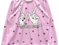 Sweatshirt with Slogan Print Chicnova bester Fashion-Online-Shop aus China
