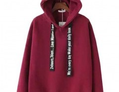 Preppy Style Hooded Sweatshirt with Fleece Lining Chicnova bester Fashion-Online-Shop aus China
