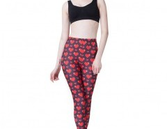 Skinny Leggings in Heart Print Chicnova bester Fashion-Online-Shop aus China