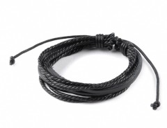 New Fashion Men Multilayer Wrap Synthetic Leather Braided Rope Bracelet Adjustable Wrist Chain Cndirect bester Fashion-Online-Shop aus China