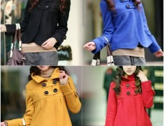 2016 Trends Women鈥檚 Fashion Fit Slim Outwear Temperament Woolen Collar Jacket Turtleneck Coat Cndirect bester Fashion-Online-Shop China