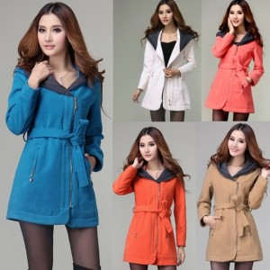 2016 Trends Women's Slim Winter Trench Hoodie Jacket Outwear Overcoat Cndirect bester Fashion-Online-Shop China