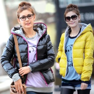 2016 Trends Women's Winter Warm Hoodie Zip Up Down Jacket Coat Outwear Cndirect bester Fashion-Online-Shop China