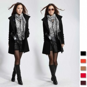 2016 Trends Women's Wool Blend Double-breasted Trench Coat / Jacket With Belt Cndirect bester Fashion-Online-Shop China