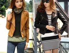2016 Trends Women's Zip Up Leather Biker Short  Jacket Coat Cndirect bester Fashion-Online-Shop China
