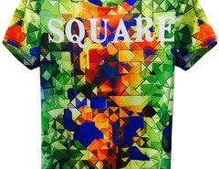 3D Unisex Colorful SQUARE Print Short Sleeve T-shirt Choies.com bester Fashion-Online-Shop aus China