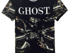 Black 3D Unisex GHOST Pirate Ship Print T-shirt Choies.com bester Fashion-Online-Shop aus China