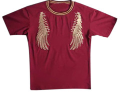 White Men's Embroidery Wing Short Sleeve T-shirt Choies.com bester Fashion-Online-Shop aus China