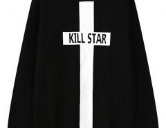 Fleece Sweatshirt with Cross Print Chicnova bester Fashion-Online-Shop aus China