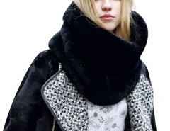 Faux Fur Scarf in Black Chicnova bester Fashion-Online-Shop aus China