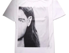 Men's White Letter And Face Print Short Sleeve T-shirt Choies.com bester Fashion-Online-Shop aus China