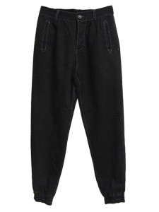 Black Buttoned Front Pocket Jogger Pants Choies.com bester Fashion-Online-Shop aus China