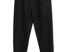 Black Buttoned Front Pocket Jogger Pants Choies.com bester Fashion-Online-Shop aus China