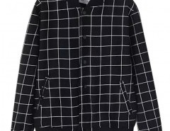 Stand Collar Jacket in Check Chicnova bester Fashion-Online-Shop aus China