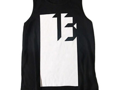 Black Contrast No.13 And Arrow Print Vest Choies.com bester Fashion-Online-Shop aus China