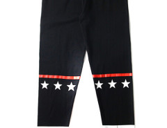 Black Contrast Stripe And Star Patch Leggings Choies.com bester Fashion-Online-Shop aus China