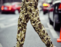 Camouflage Drawstring Waist Jogger Pants Choies.com bester Fashion-Online-Shop aus China