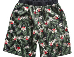 Green Tropical Print Elastic Waist Shorts Choies.com bester Fashion-Online-Shop aus China