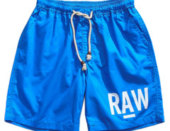 Blue Letter Print Drawstring Waist Shorts Choies.com bester Fashion-Online-Shop aus China