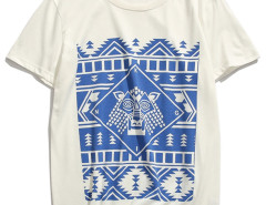White Tribe Symbol Print T-shirt Choies.com bester Fashion-Online-Shop aus China