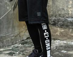 Black Color Block Side Letter Print Leggings Choies.com bester Fashion-Online-Shop aus China