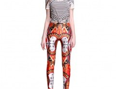 Leggings in Contrast Print Chicnova bester Fashion-Online-Shop aus China