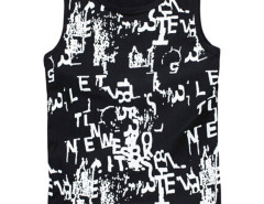 Black Graffiti Letter Print Vest Choies.com bester Fashion-Online-Shop aus China