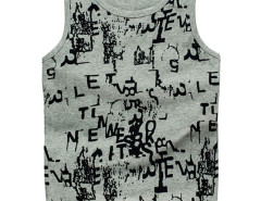 Gray Graffiti Letter Print Vest Choies.com bester Fashion-Online-Shop aus China