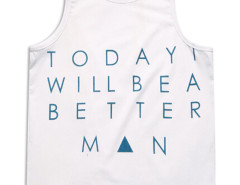 White Letter And Geo Print Vest Choies.com bester Fashion-Online-Shop aus China